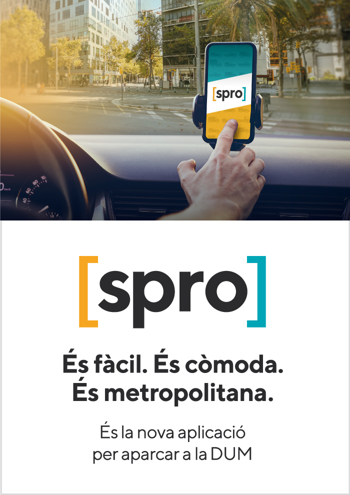 SPRO, the new app for parking in the DUM of Barcelona and the Metropolitan Area
